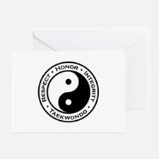 Respect Honor Integrity TKD Greeting Card