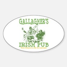 Gallagher's Vintage Irish Pub Personalized Decal