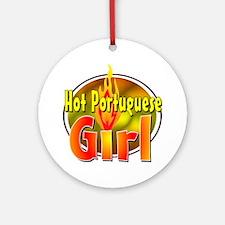Hot Portuguese Girl Ornament (Round)
