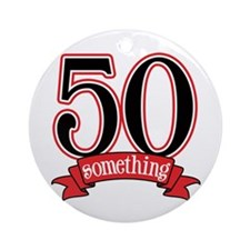 50 Something 50th Birthday Ornament (Round)
