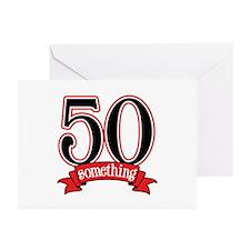 50 Something 50th Birthday Greeting Cards (Pk of 2