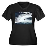 Alaska Scene 22 Women's Plus Size V-Neck Dark T-Sh