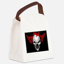 Happy Evil Clown Red Hair Canvas Lunch Bag