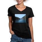 Alaska Scene 17 Women's V-Neck Dark T-Shirt