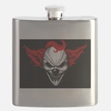 Happy Evil Clown Red Hair Flask