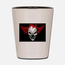 Happy Evil Clown Red Hair Shot Glass