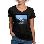Alaska Scene 15 Women's V-Neck Dark T-Shirt