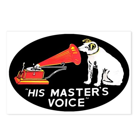 """""""His Master's Voice"""" Postcards (Package of 8)"""