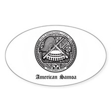 Samoan Coat of Arms Seal Oval Decal