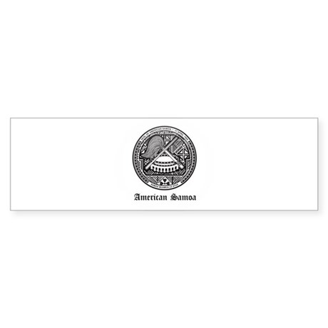 Samoan Coat of Arms Seal Bumper Sticker