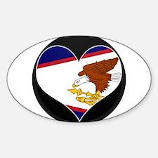 I love American Samoa Flag Oval Decal