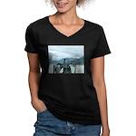 Alaska Scene 12 Women's V-Neck Dark T-Shirt