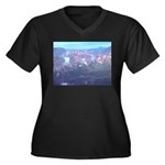 Alaska Scene 11 Women's Plus Size V-Neck Dark T-Sh