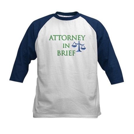 Attorney in Brief Kids Baseball Jersey
