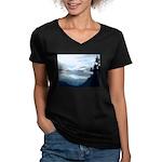 Alaska Scene 6 Women's V-Neck Dark T-Shirt