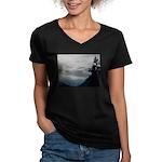 Alaska Scene 7 Women's V-Neck Dark T-Shirt