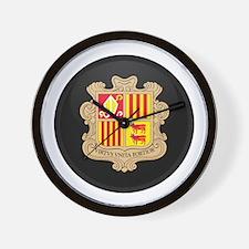 Coat of Arms of Andorra Wall Clock