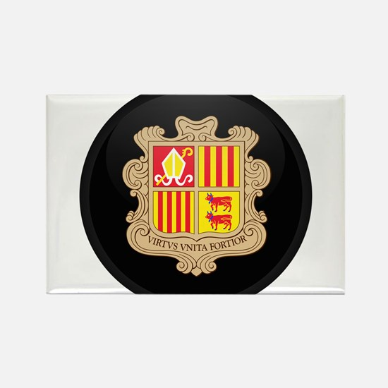 Coat of Arms of Andorra Rectangle Magnet