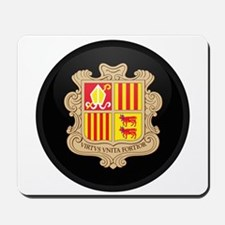Coat of Arms of Andorra Mousepad
