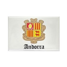 Andorran Coat of Arms Seal Rectangle Magnet