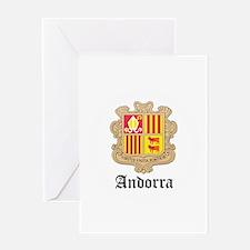 Andorran Coat of Arms Seal Greeting Card
