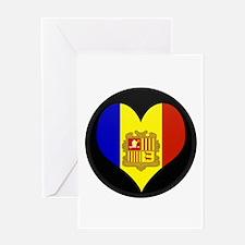 I love Andorra Flag Greeting Card