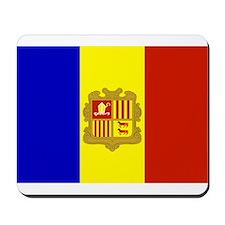Andorra Flag Mousepad