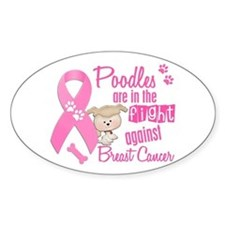 Bulldogs Against Breast Cancer 2 Oval Decal