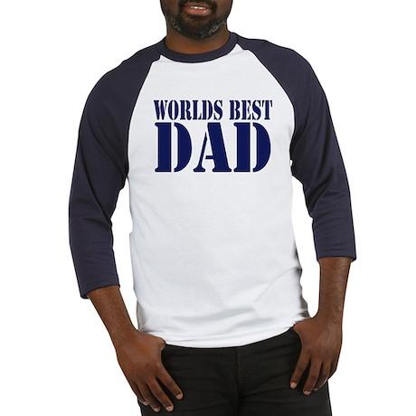 Worlds Best Dad Baseball Jersey