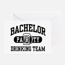 Bachelor Party Drinking Team Greeting Cards (Pk of