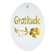 Gratitude Oval Ornament