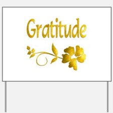 Gratitude Yard Sign