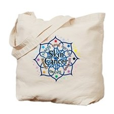Skin Cancer Lotus Tote Bag