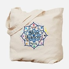 Skin Cancer Lotus Tote Bag
