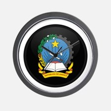 Coat of Arms of Angola Wall Clock