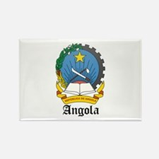 Angolan Coat of Arms Seal Rectangle Magnet