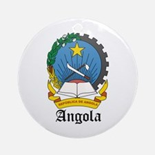 Angolan Coat of Arms Seal Ornament (Round)