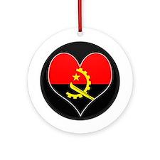 I love Angola Flag Ornament (Round)