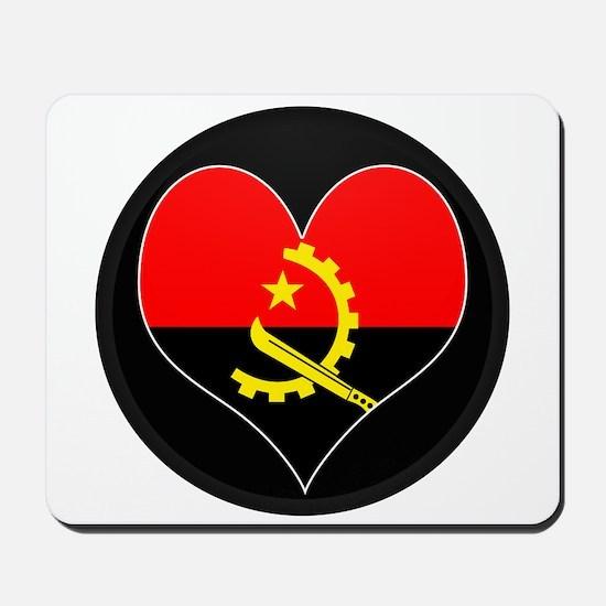 I love Angola Flag Mousepad