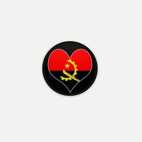 I love Angola Flag Mini Button