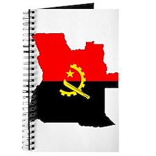 Angola Flag Map Journal