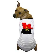 Angola Flag Map Dog T-Shirt