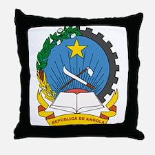 Angola Coat of Arms Throw Pillow