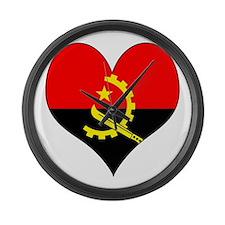 I Love Angola Large Wall Clock