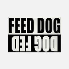 Feed Dog/Dog Fed Rectangle Magnet