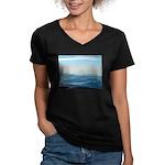 Alaska Scene 2 Women's V-Neck Dark T-Shirt