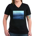 Alaska Scene 3 Women's V-Neck Dark T-Shirt