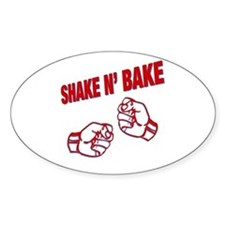 Shake n Bake Oval Bumper Stickers