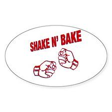 Shake n Bake Oval Stickers