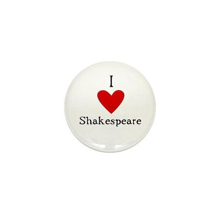 Shakespeare Love Mini Button (10 pack)